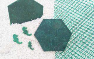 Posavasos hecho de protector de plástico